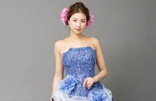 カラードレス ブルー 大阪