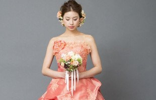 カラードレス 名古屋 オレンジ