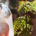 ブライトブルー 結婚式 ウエディングドレス