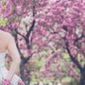 ブライトブルー ウエディングドレス 春