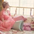 ブライトブルー ピンク ドレス