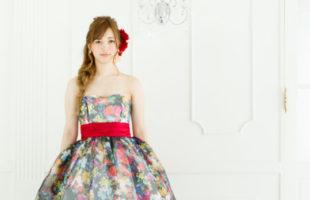 フラワー カラードレス