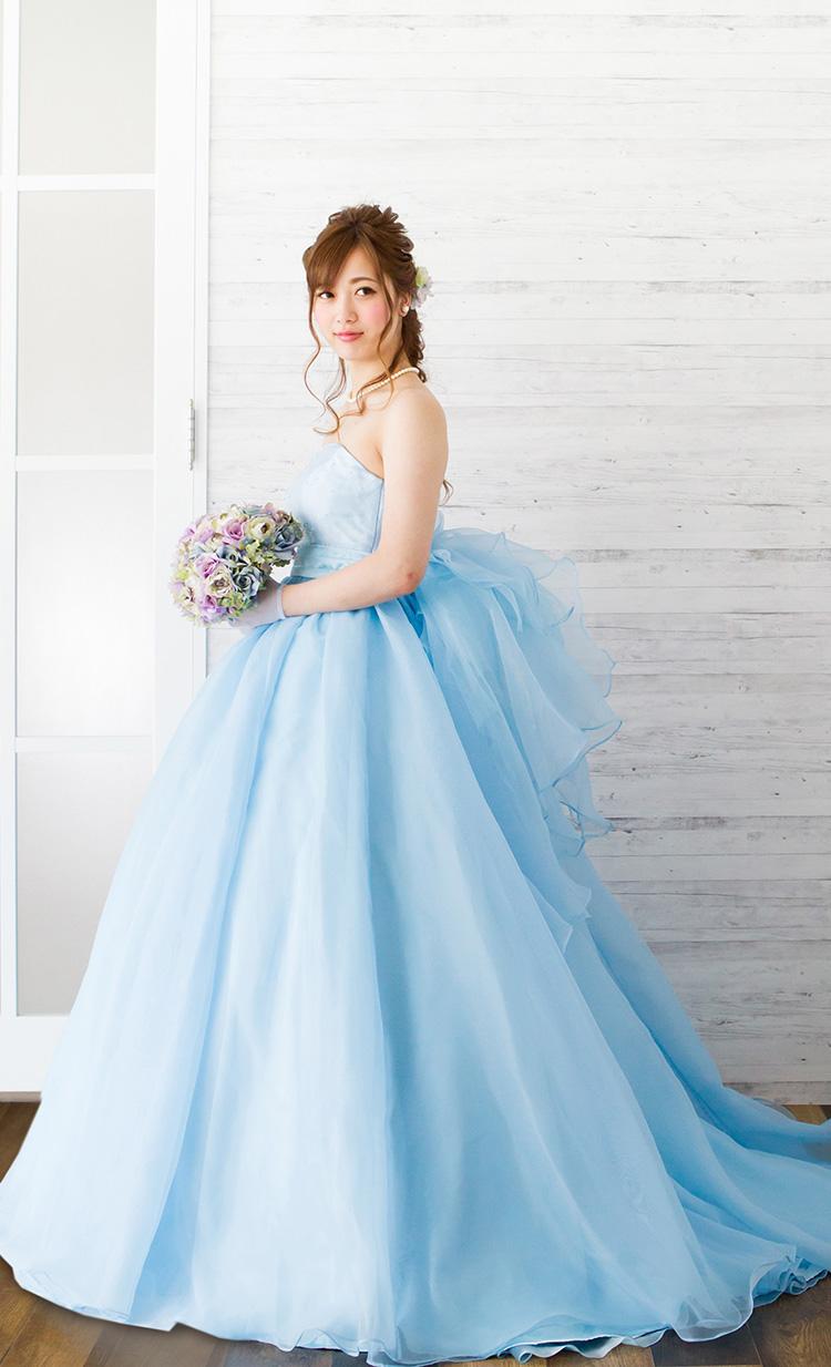 カラードレス ブルー・グリーン ドレスラインナップ