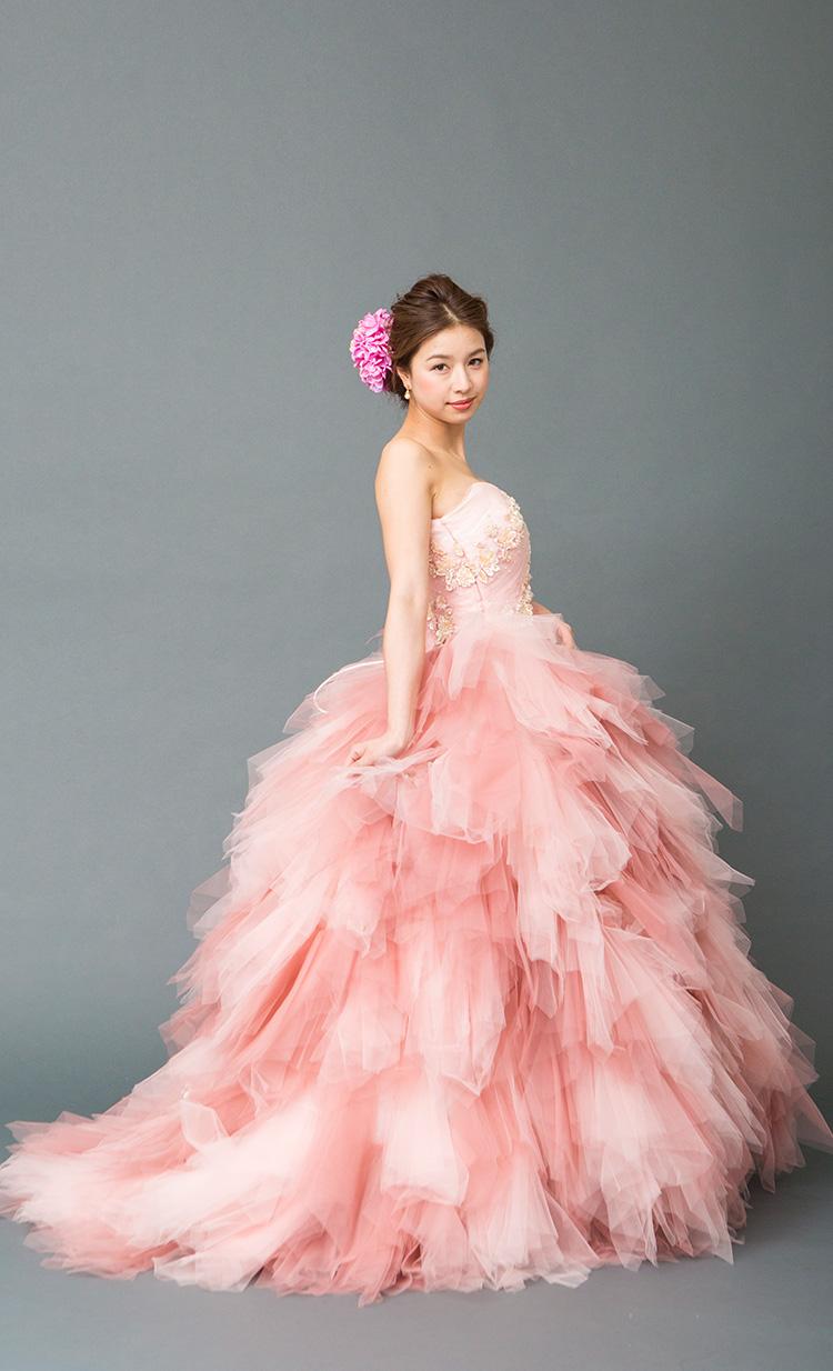 カラードレス 赤・ピンク ドレスラインナップ