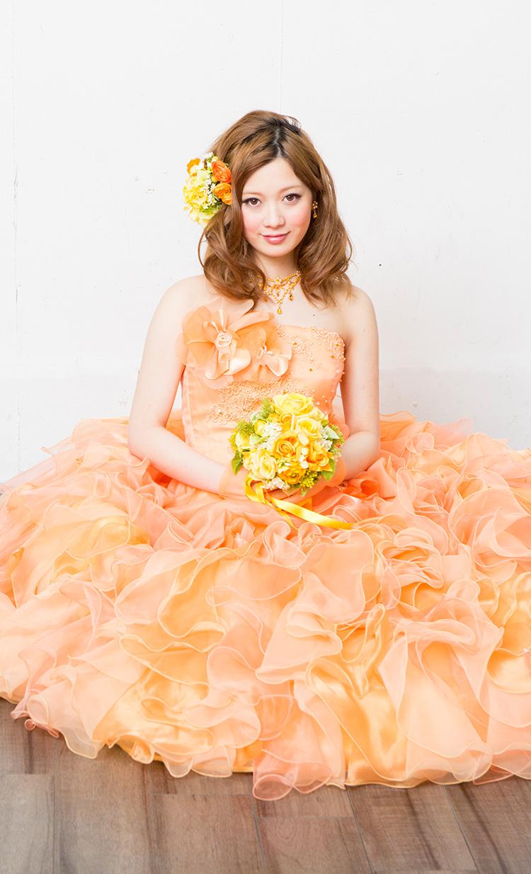 カラードレス 黄・オレンジ ドレスラインナップ