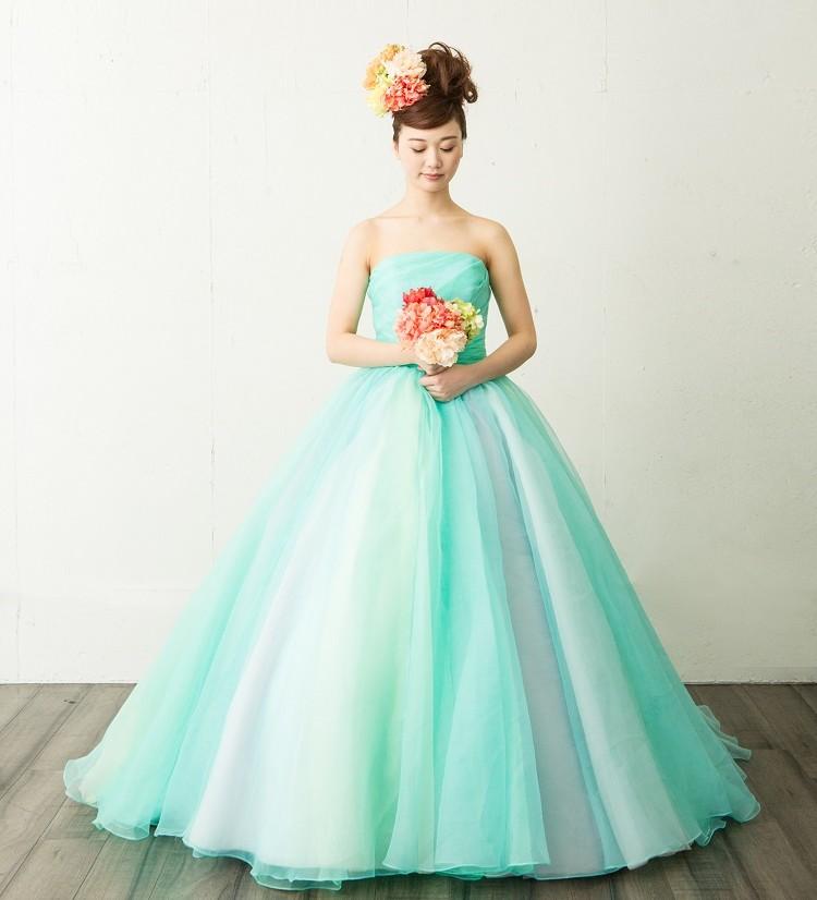 カラードレス 名古屋 グリーン