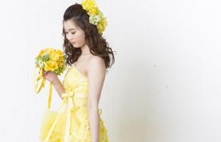 カラードレス 名古屋 イエロー