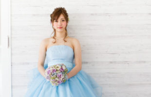 カラードレス ブルー
