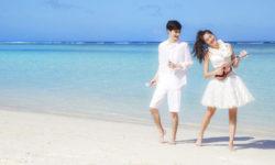 沖縄リゾート挙式 ドレス レンタル 福岡 格安 ブライトブルー