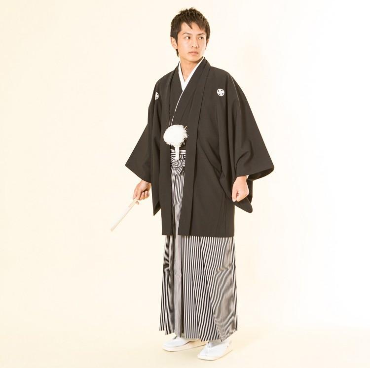 紋付袴 黒 レンタル