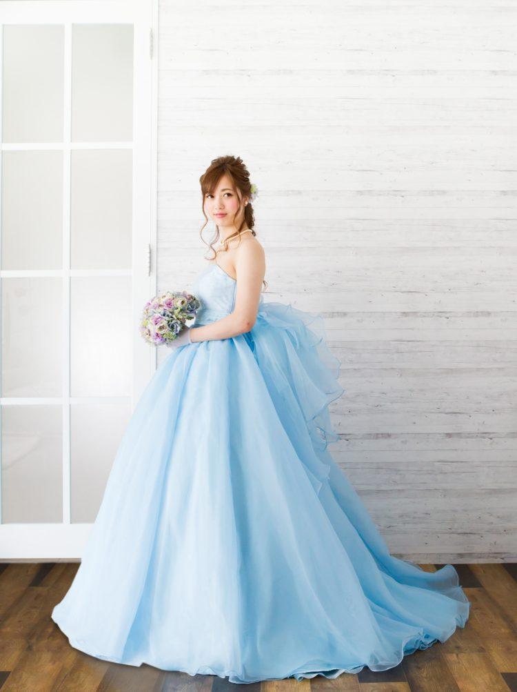 カクテルドレス ブルー 結婚式